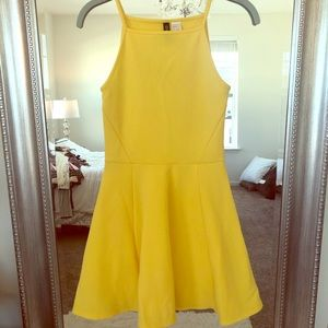 Yellow H&M Skater Dress